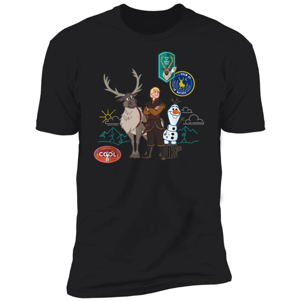 Disney Frozen 2 Olaf, Sven, and Kristoff Patches T-Shirt