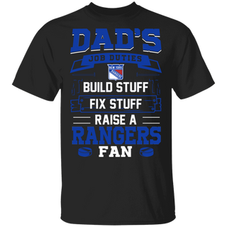 NHL - Dad Raise a New York Rangers Fan Funny T-Shirt