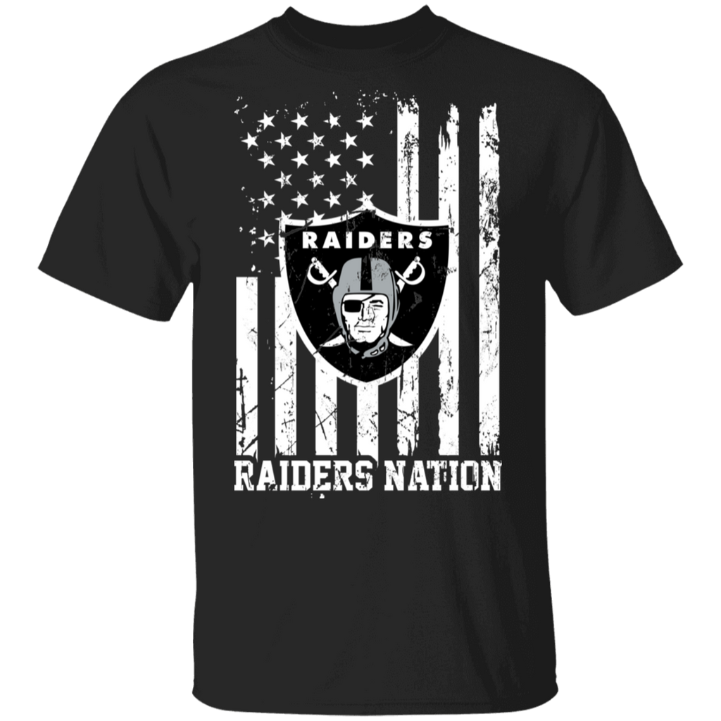 NFL Oakland Raiders Logo American Flag T-Shirt