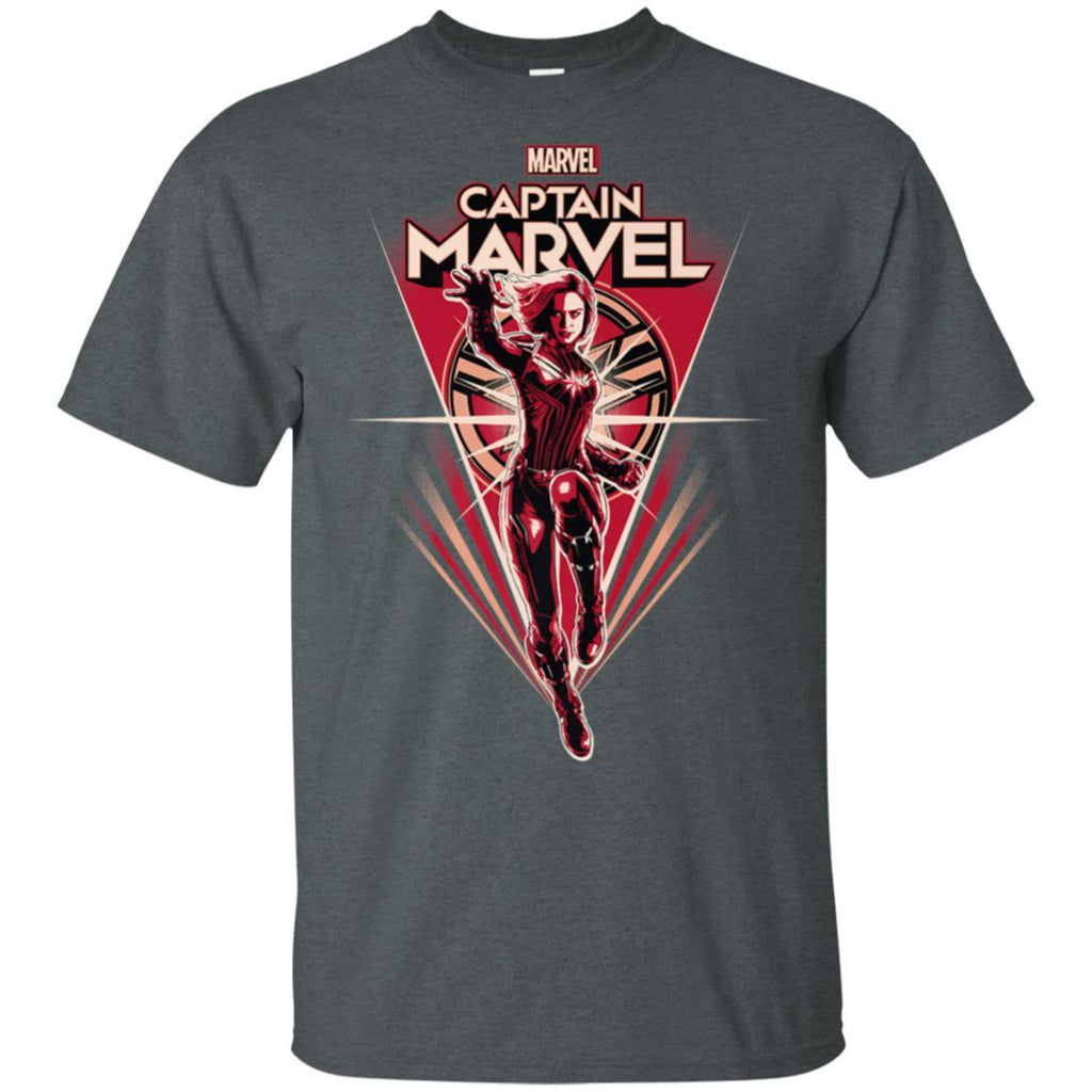 Marvel Captain Marvel Retro Style Flight Premium T-Shirt