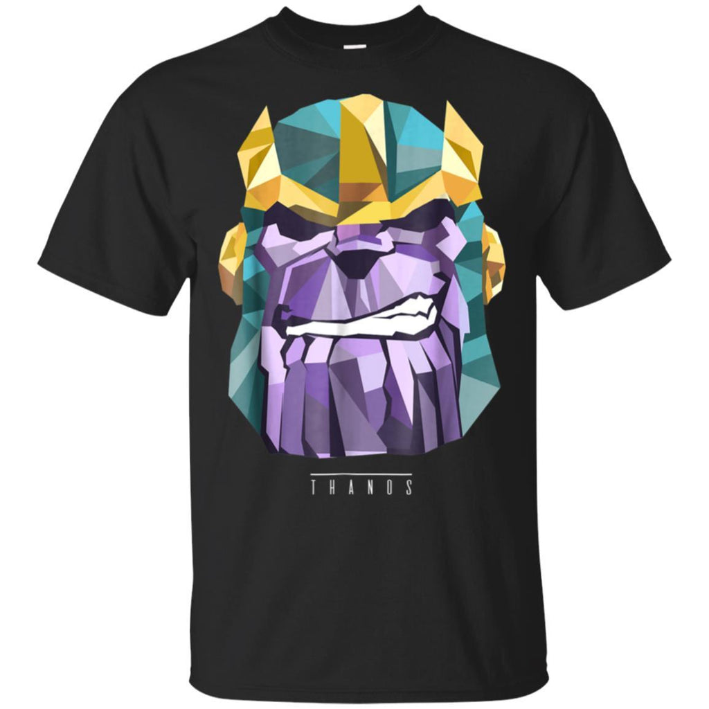 Marvel Thanos Low Poly Geometric Art Head Graphic T-Shirt