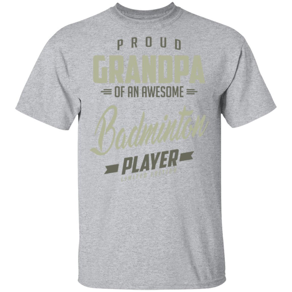 Proud Grandpa Badminton Player