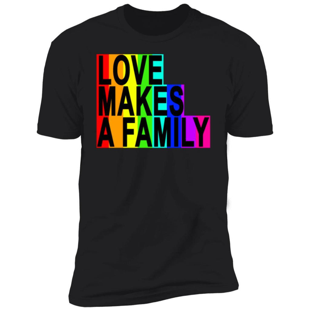 Love makes a family lgbt tshirts