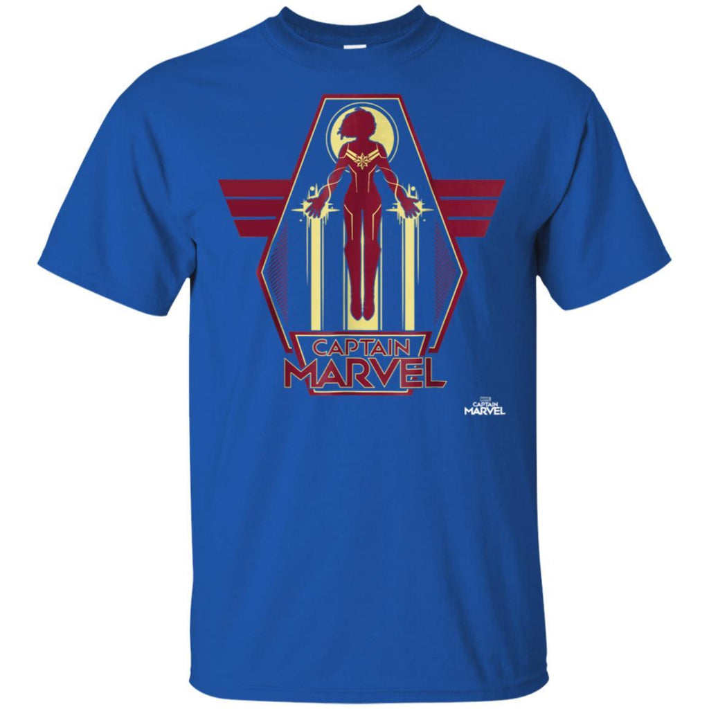 Captain Marvel Red Yellow Flight Powers Graphic T-Shirt