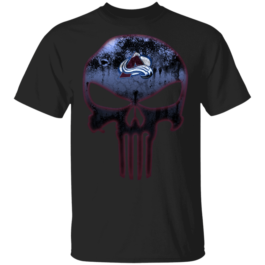 NHL - Colorado Avalanche Hockey The Punisher Skull T-Shirt