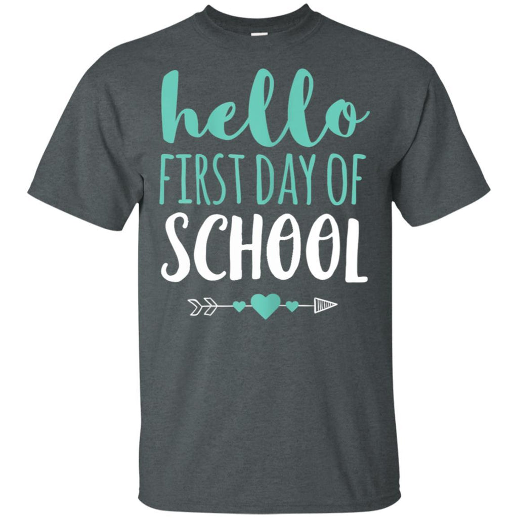 Hello First Day Of School T Shirt Teacher Student Arrow Cute