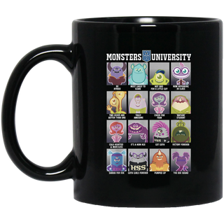 Disney Pixar Monsters University Class Photos Black Mug