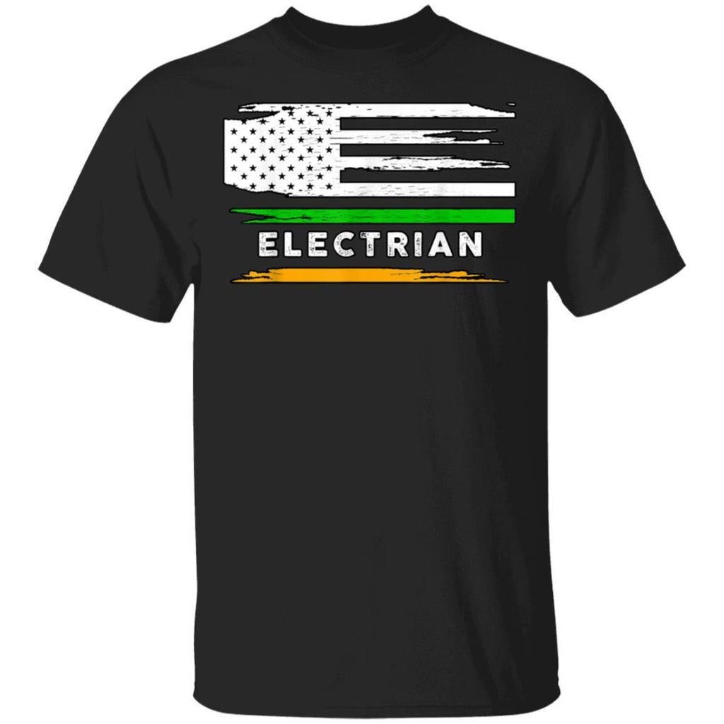 Electrian Irish American Flag Pride St Patrick's Day T-Shirt
