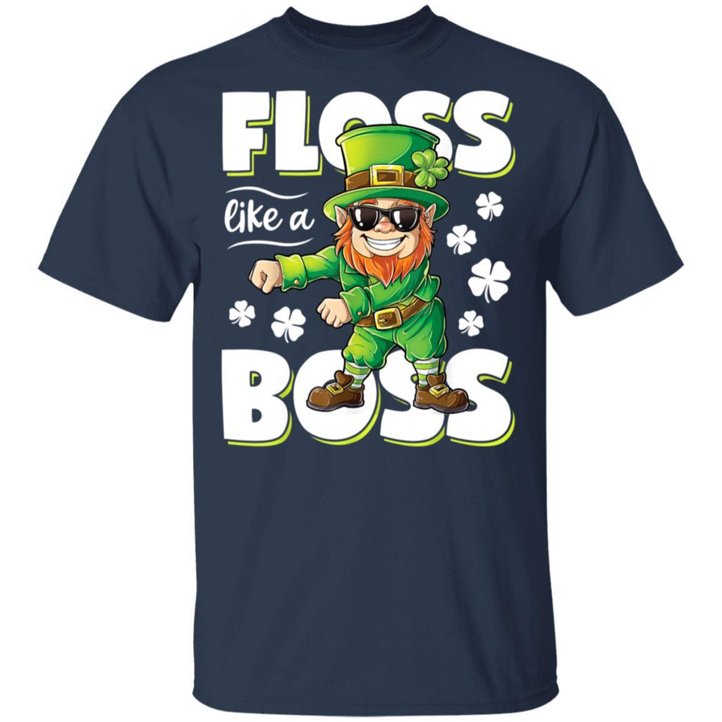 Leprechaun Floss Like A Boss St Patricks Day Boys T-Shirt