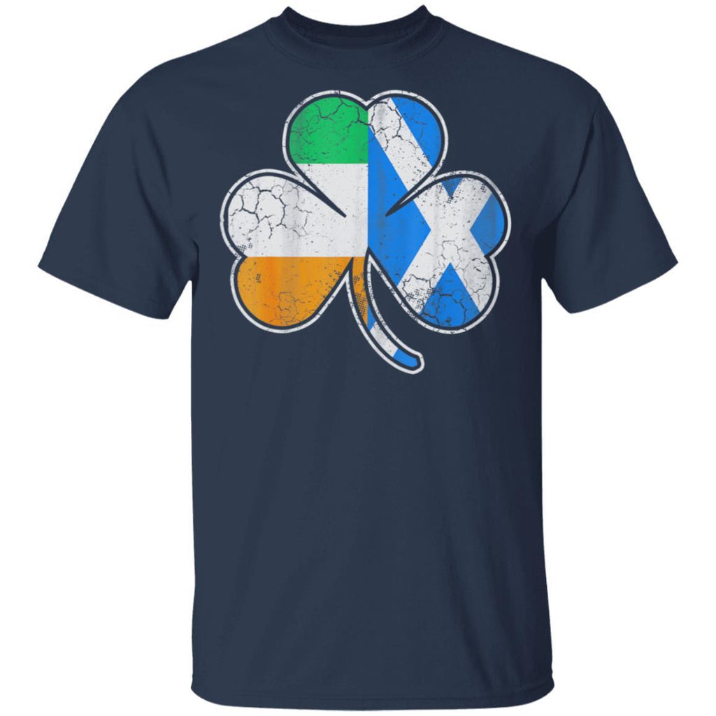Scotch Irish Shamrock Scottish St Patricks Day T-Shirt