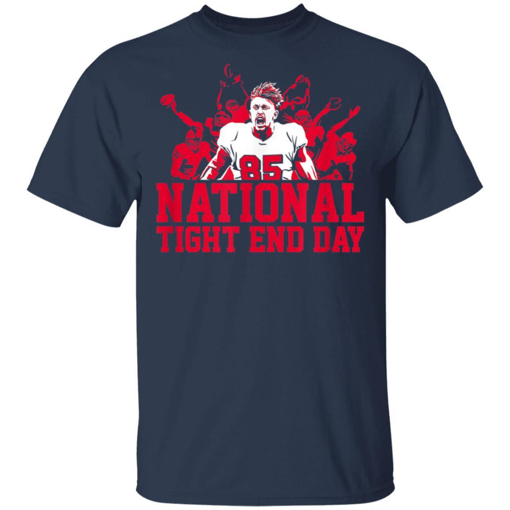 Officially Licensed George Kittle - National Tight End Day T-Shirt