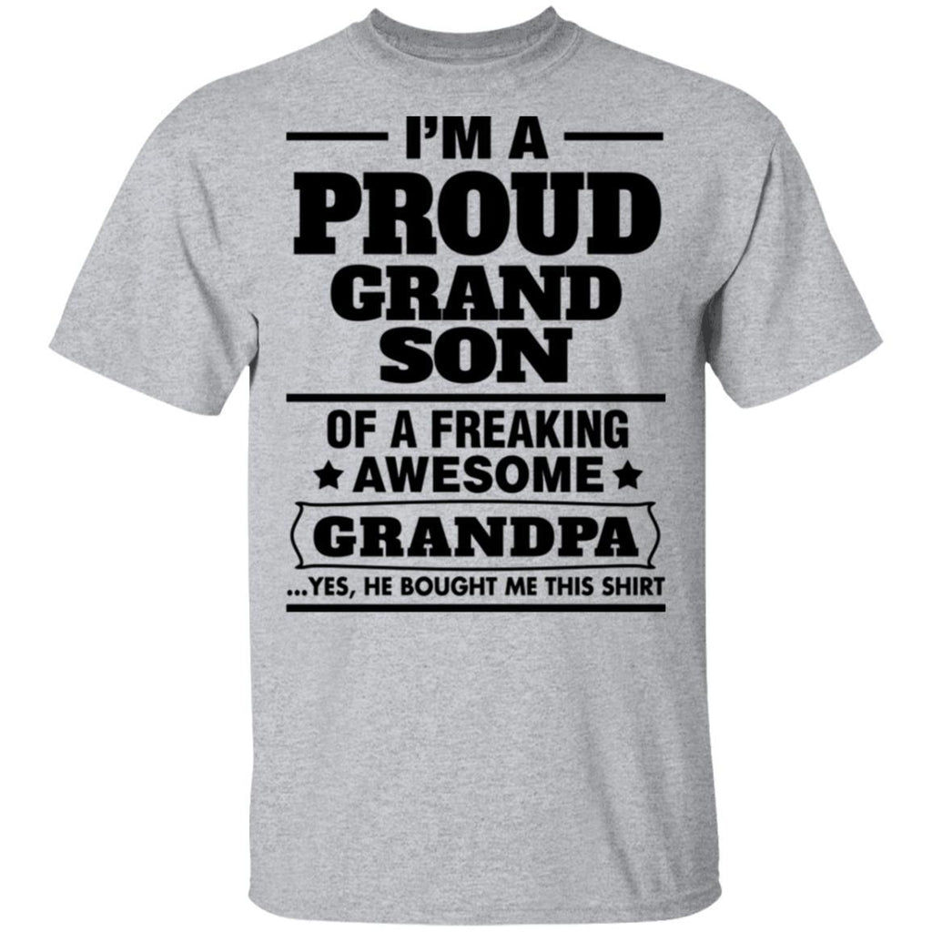 Proud Grandson Of A Freaking Awesome Grandpa T-Shirts