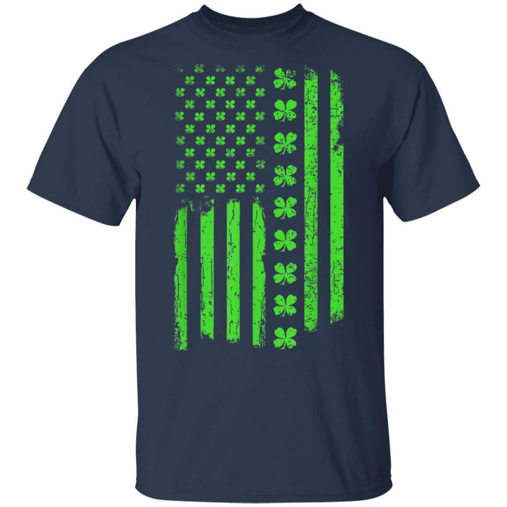 St Patricks Day Irish American Flag Paddy Day T-Shirt