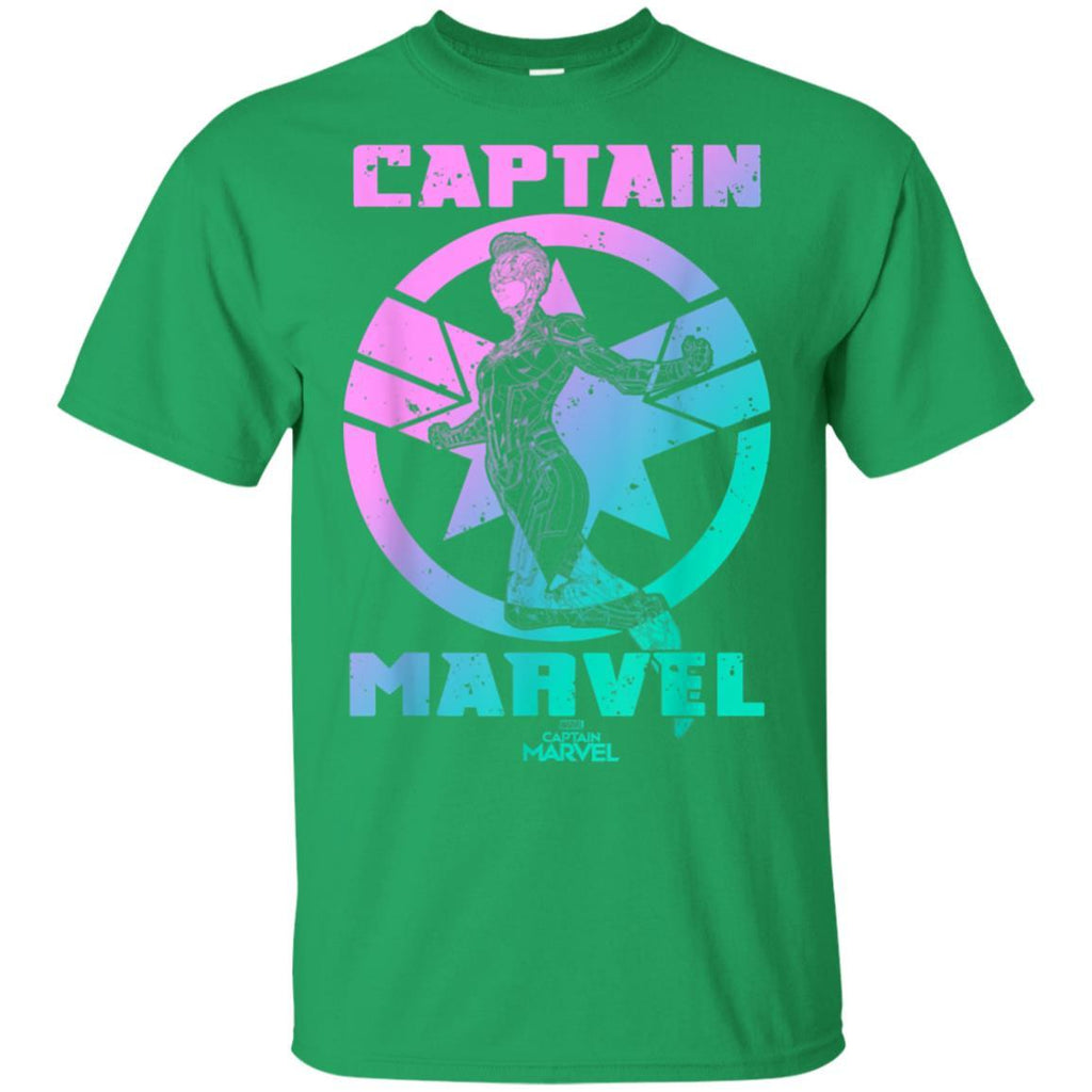 Captain Marvel Badge Color Grade Symbol Graphic T-Shirt