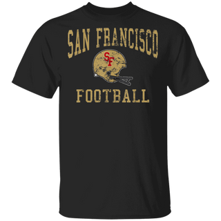 Vintage San Francisco Football OldSchool Retro SF Helmet TShirt