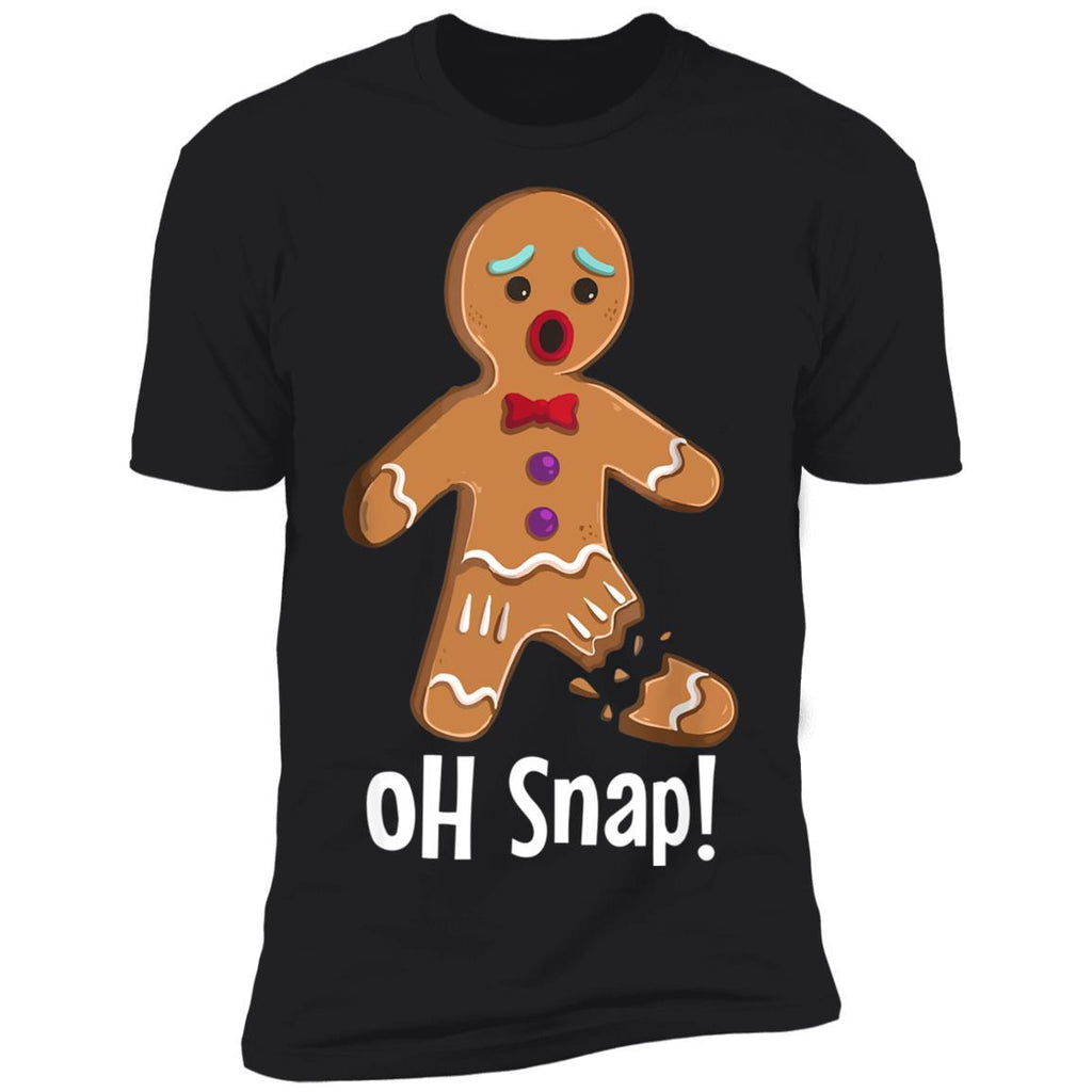 Gingerbread Man Oh Snap Funny Christmas Shirts