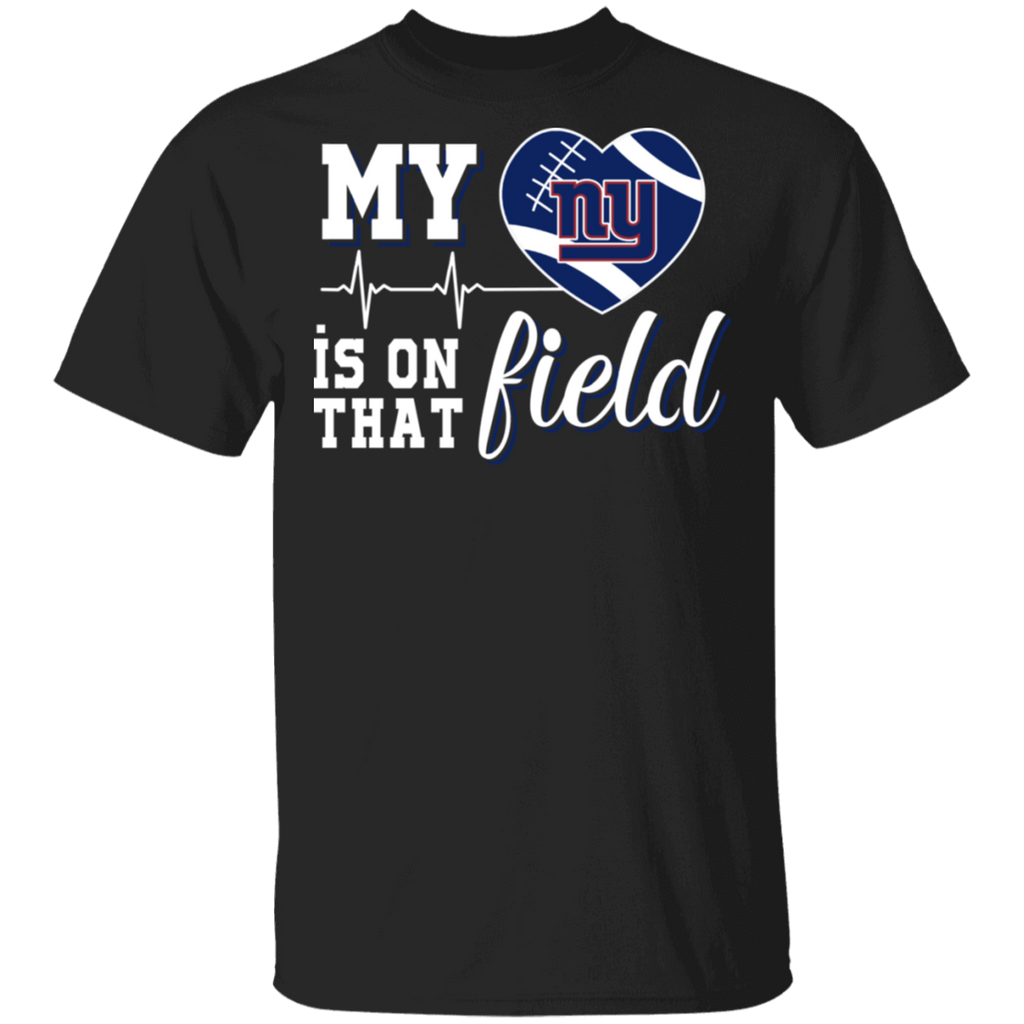 NFL - New York Giants Football My Heart is on that Field T-Shirt
