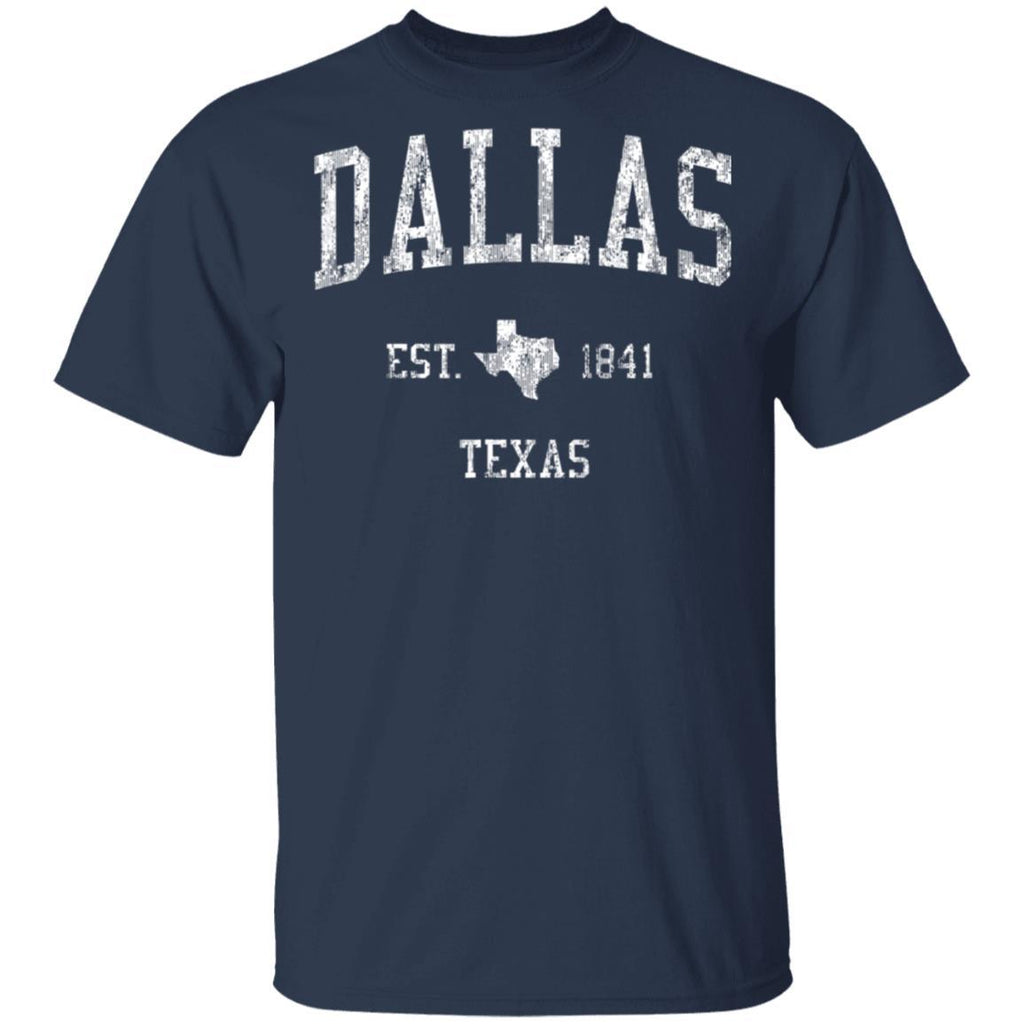 Dallas Texas T-Shirt Vintage Sports Design Dallas Big D Tee T-Shirt