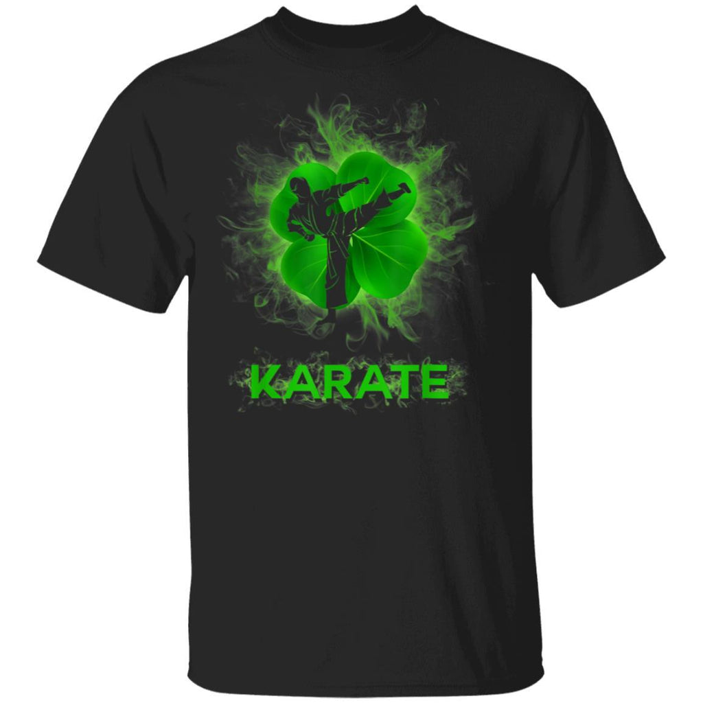 Karate Shamrock St Patricks Day Sport Gift T-Shirt