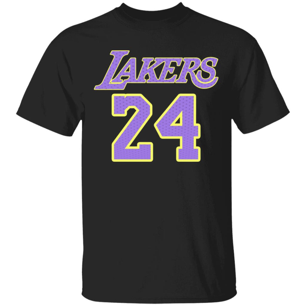Kobe Bryant Los Angeles Lakers NBA Men Black Player Name & Number Alternate Jersey T-Shirt TFD Gift for fan man woman child