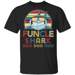 Mens Retro Vintage Funcle Sharks Father T-Shirt
