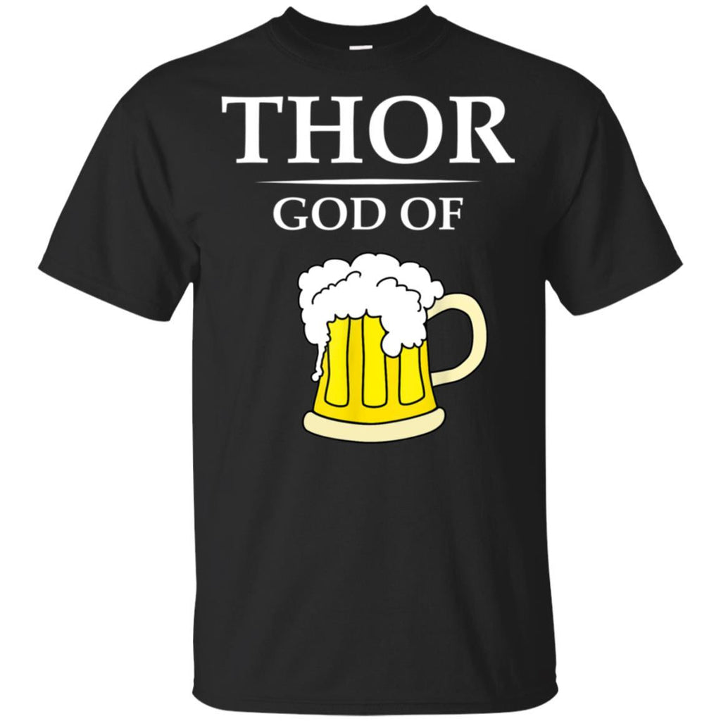 Thor God Of Beer T-Shirt Funny Ale Drinker I Rummy Tee