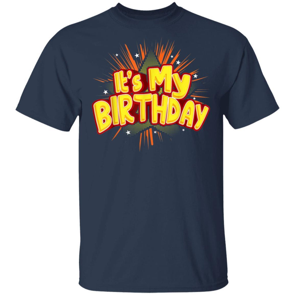 It's My Birthday for Boys - Cool Fireworks Design T-Shirt