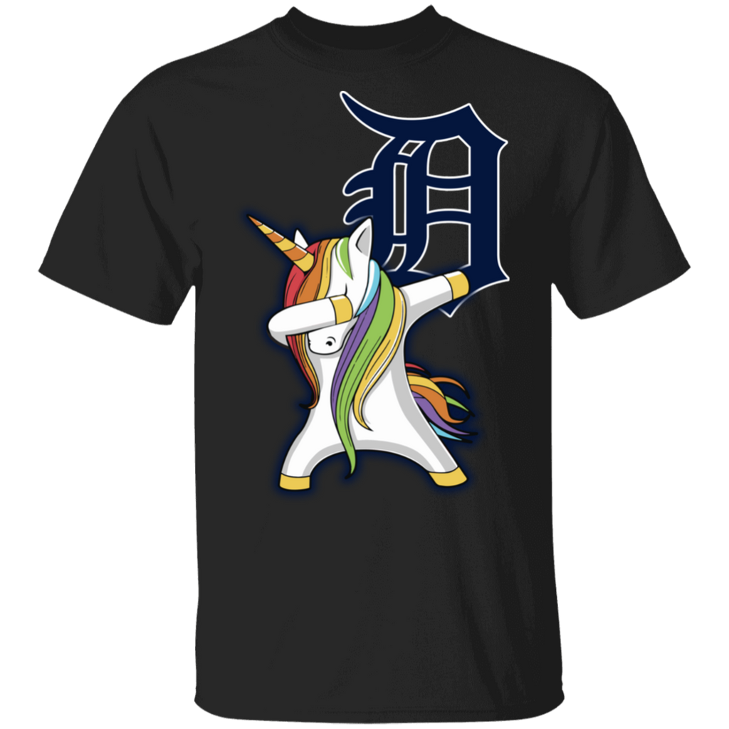 MLB Detroit Tigers Baseball Dabbing Unicorn T-shirt