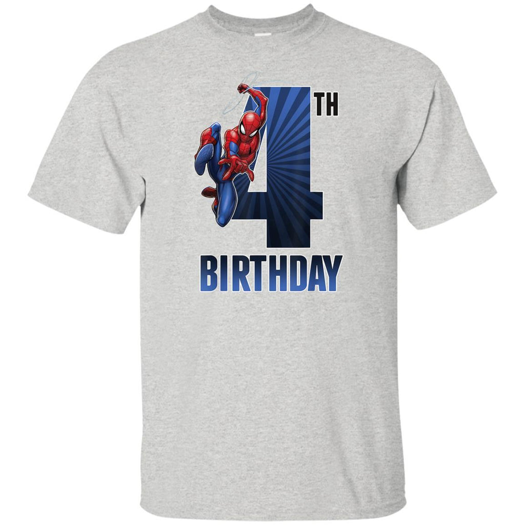 Marvel Spider-Man Swinging 4th Birthday Graphic T-Shirt