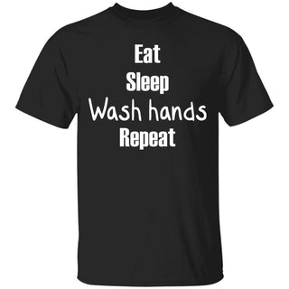 eat sleep wash your hands repeat anti flu Tshirt