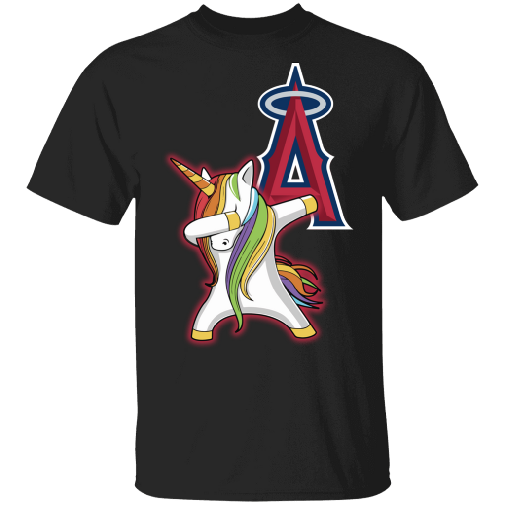 MLB Los Angeles Angels Baseball Dabbing Unicorn T-shirt