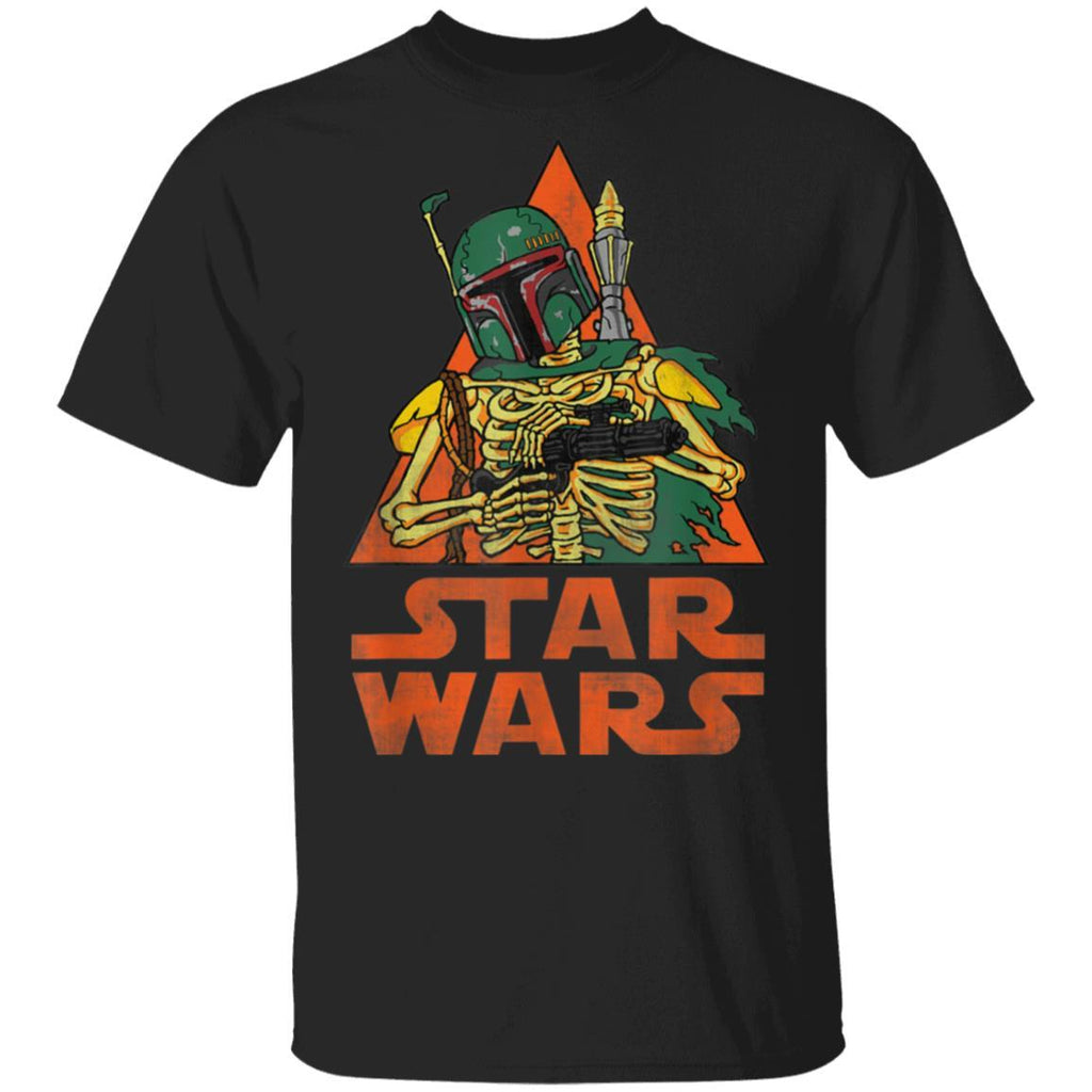 Star Wars Boba Fett Skeleton Halloween Costume T-Shirt