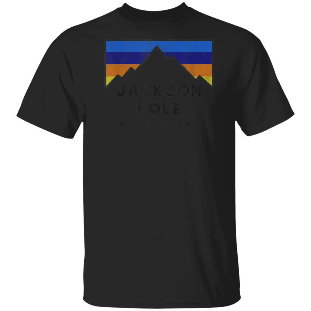 Jackson Hole Wyoming Retro Mountain Colors T-Shirt