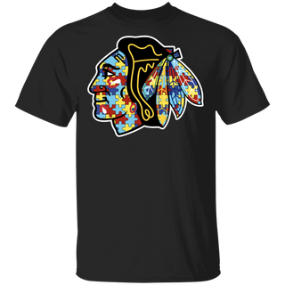 NFL - Chicago Blackhawks Support Autism Awareness T-shirt