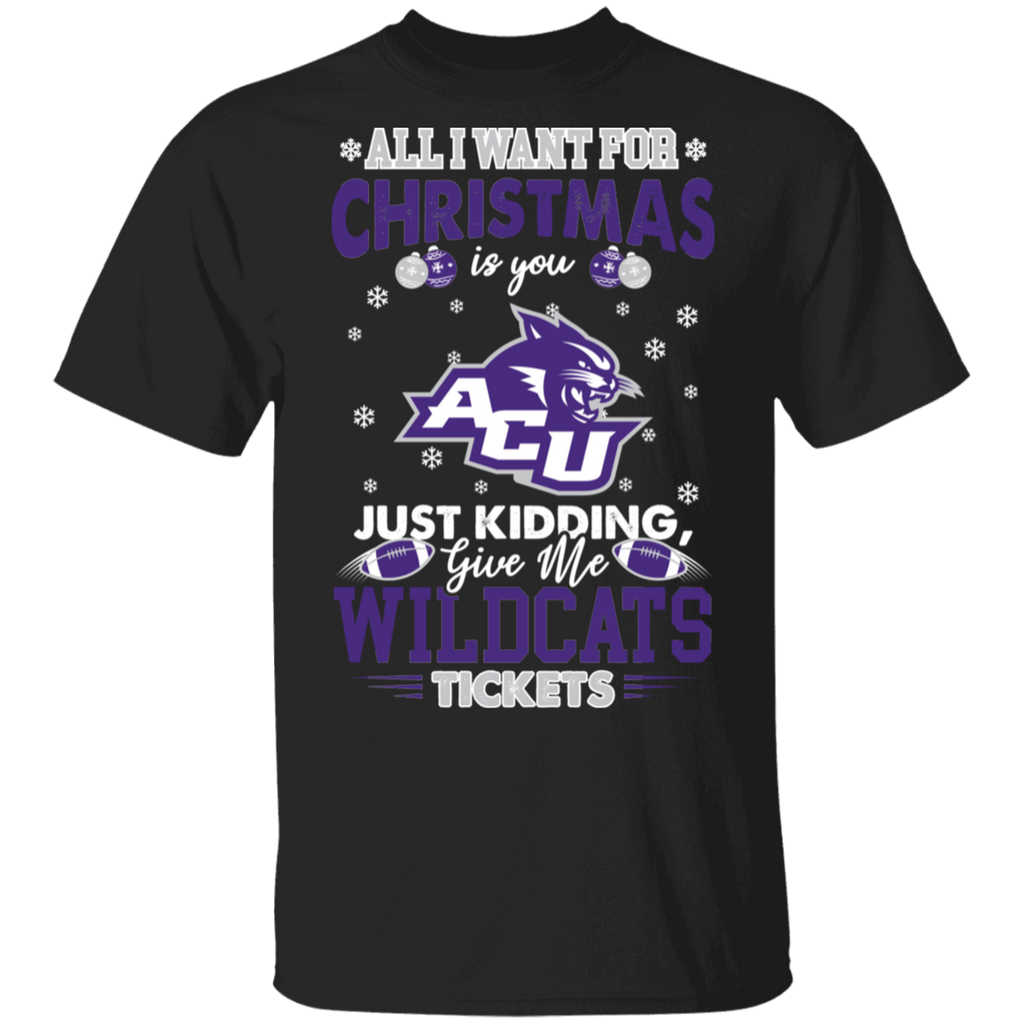 NCAA Abilene Christian Wildcats T-Shirt Tickets Funny Christmas