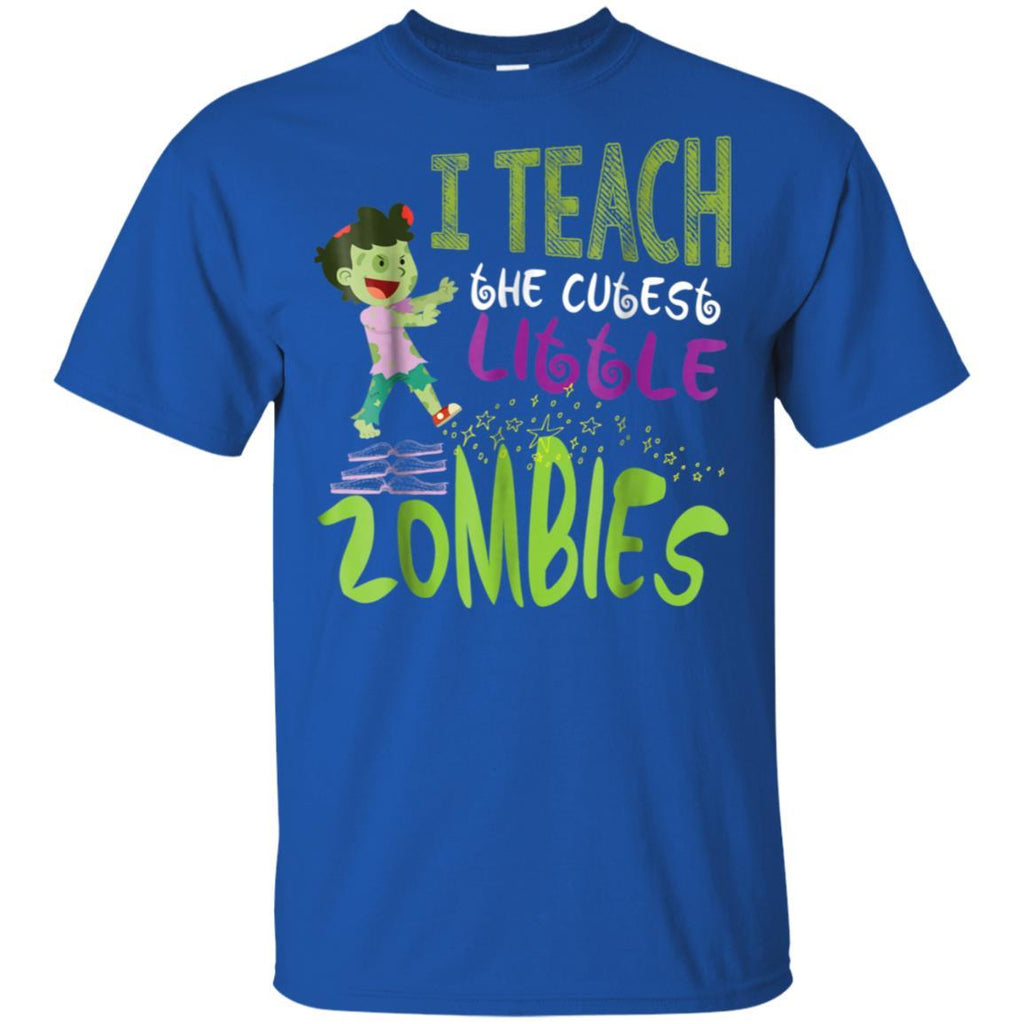 Teacher Halloween Zombie Brains T-shirt Funny Teaching Gift