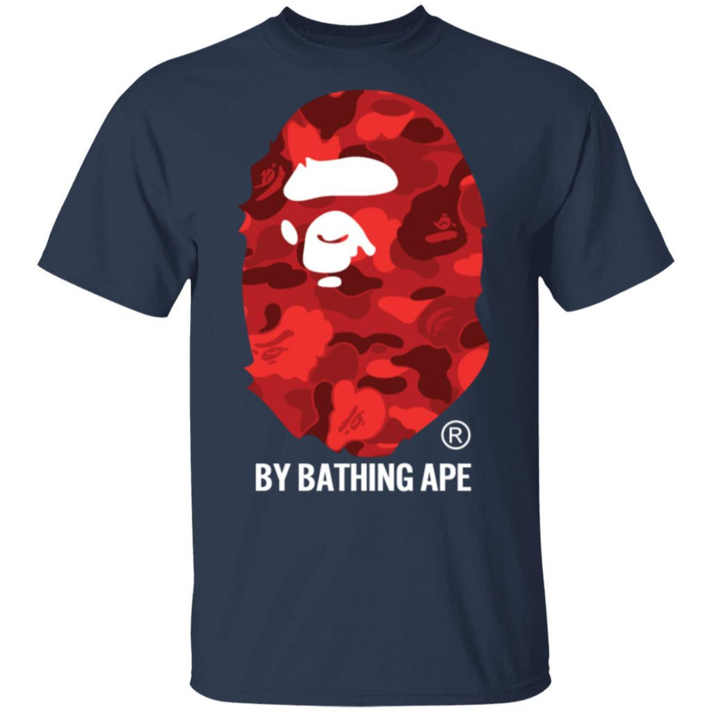 By APE Red ABC Camo T-Shirts