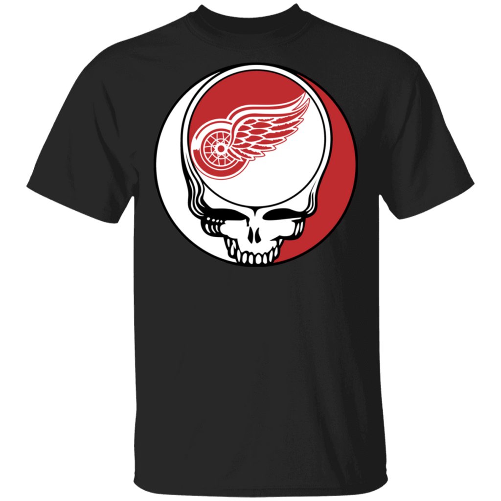 NHL - Detroit Red Wings Hockey Grateful Dead Steal Your Face T-Shirt