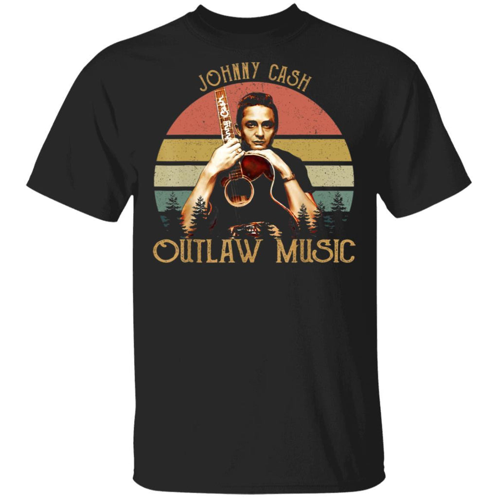Vintage Johnny Cash Country Music Lovers Outlaw Gift T-Shirt