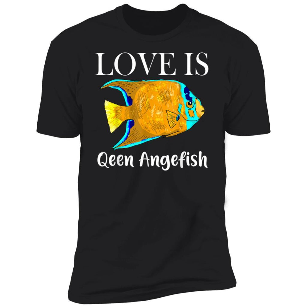 Queen Angelfish Shirt, Love Is Cute Fish Gift For Mom Dad T-Shirt