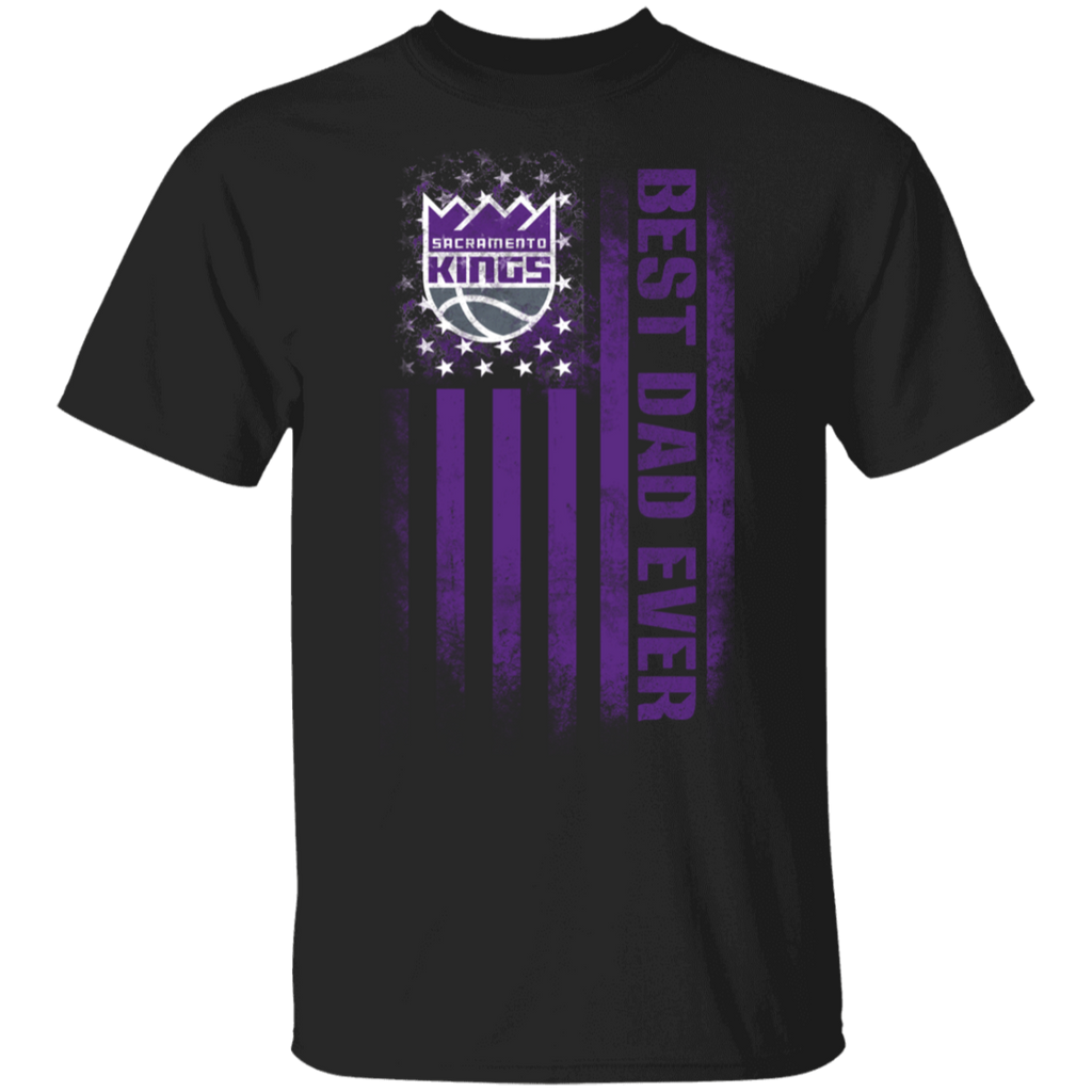 NBA - Sacramento Kings Best Dad Ever USA Distressed Flag T-Shirt