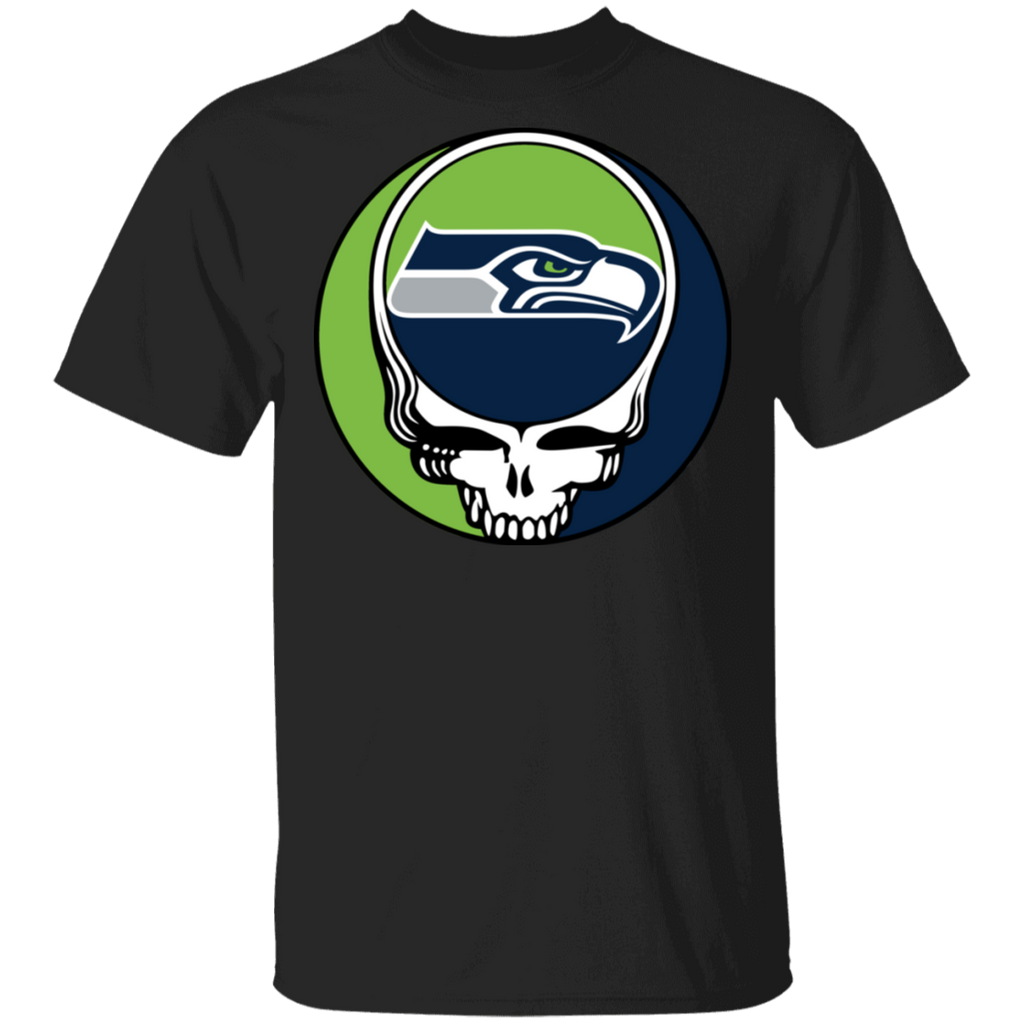NFL - Seattle Seahawks Footballl Grateful Dead Steal Your Face Shirts Sweatshirts Hoodies=