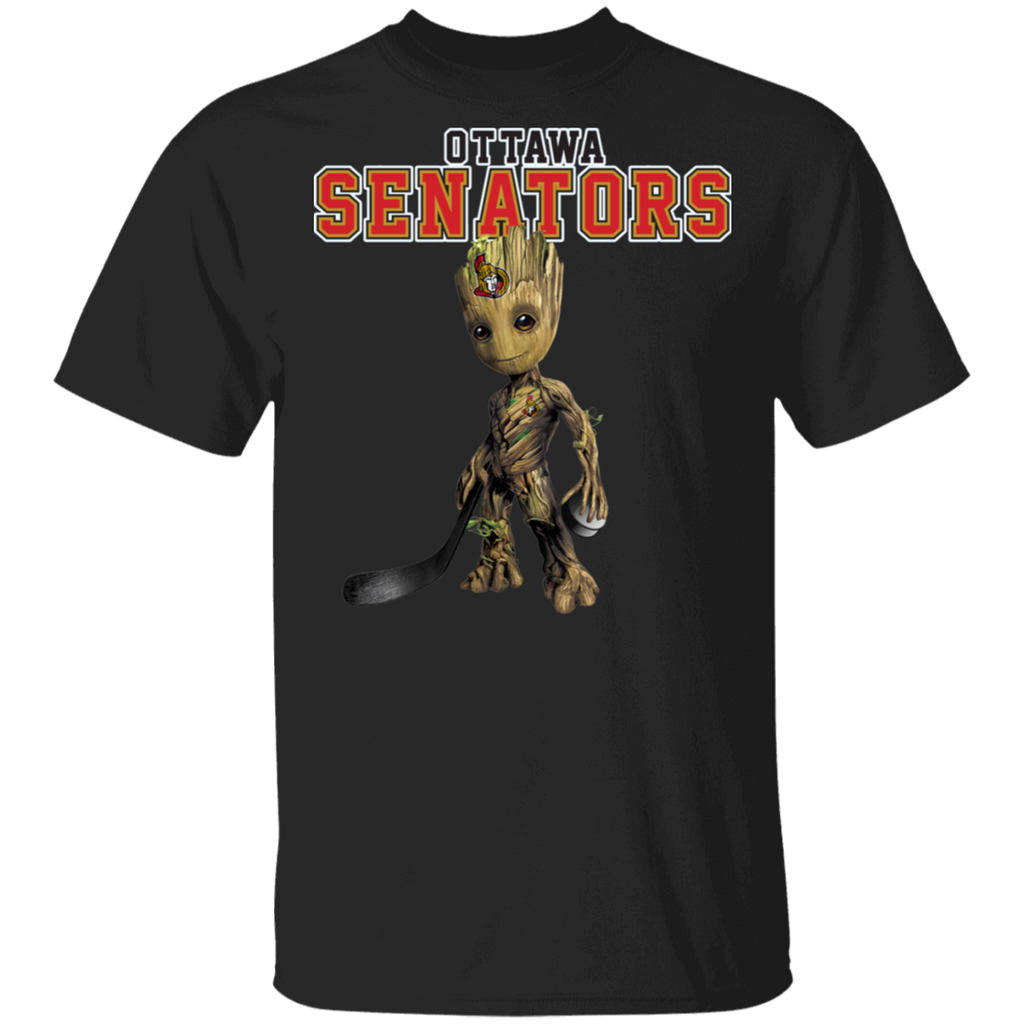 NHL - Ottawa Senators Hockey Guardians of the Galaxy Groot T-Shirt