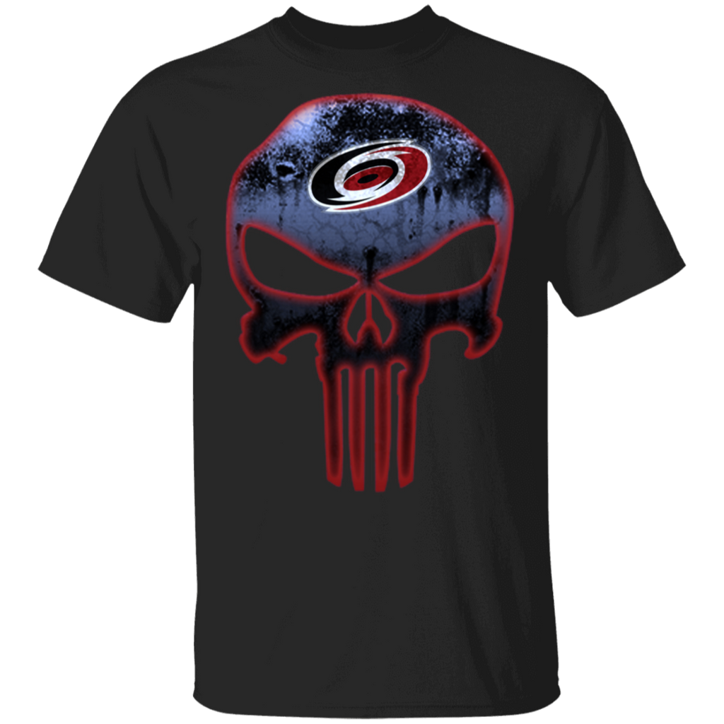 NHL - Carolina Hurricanes Hockey The Punisher Skull T-Shirt