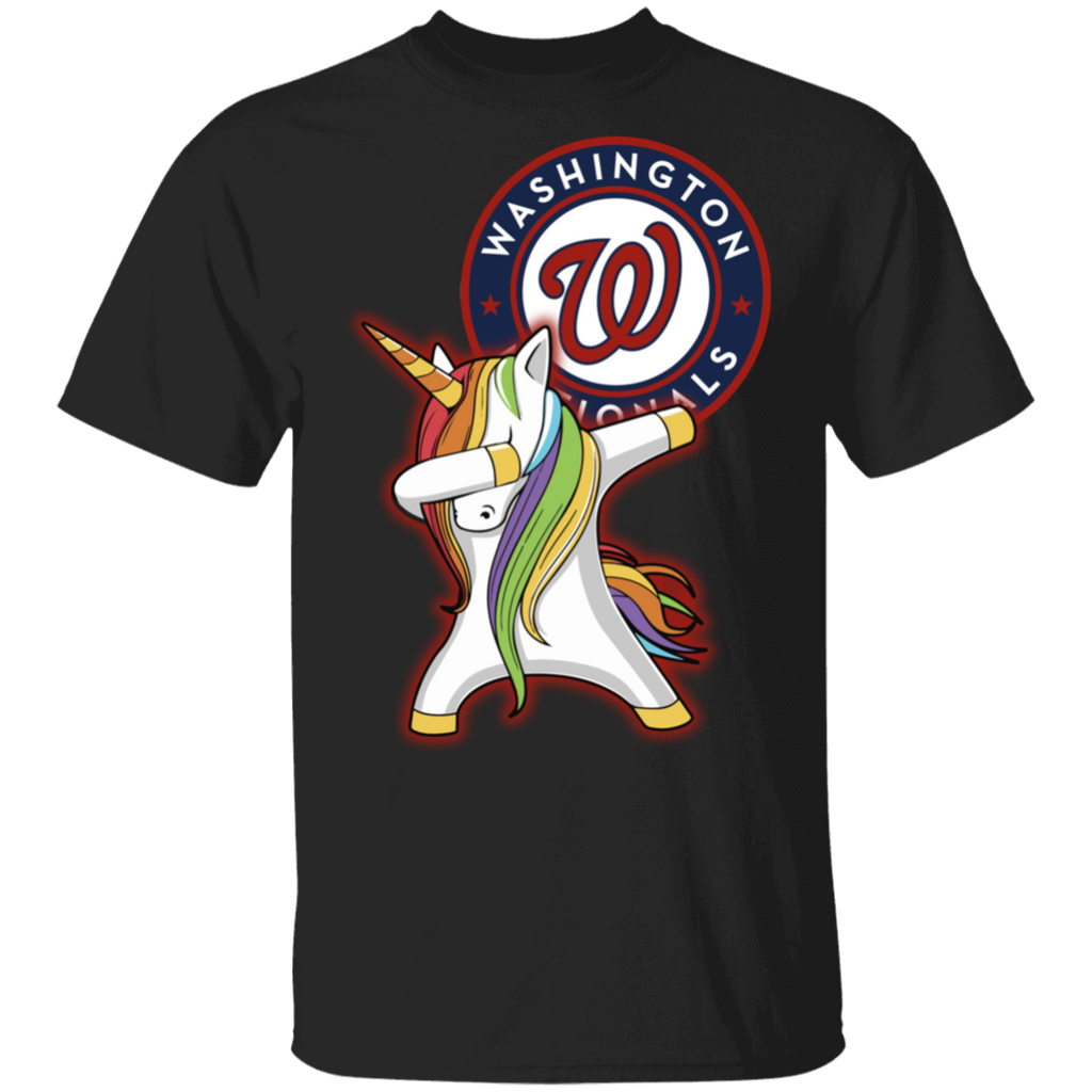 MLB Washington Nationals Baseball Dabbing Unicorn T-shirt