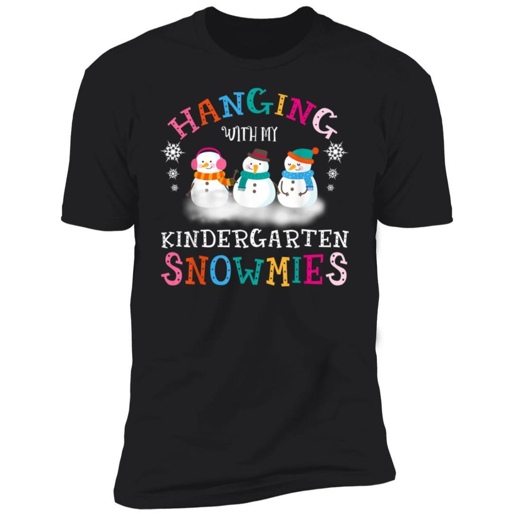 Hanging With My Kindergarten Snowmies tee Teacher Christmas T-Shirt