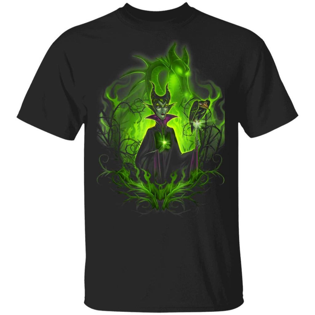 Disney Sleeping Beauty Dark Detailed Maleficent T-Shirt