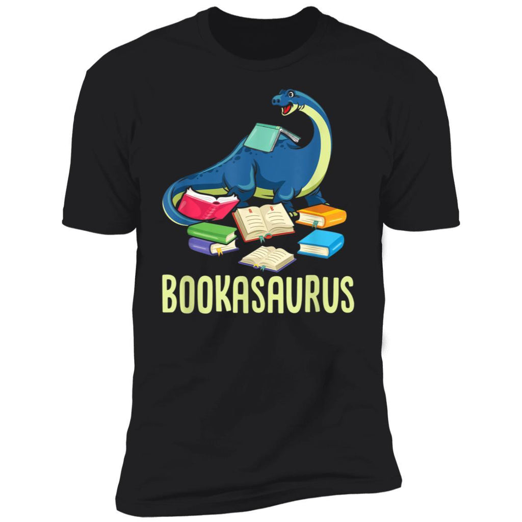 Bookasaurus Book Lover Reading Books Funny Dino Lover Gift T-Shirt