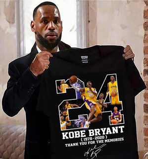 Rip Kobe Bryant 24 1978-2020 Thank you for the memories signature basketball t-shirt