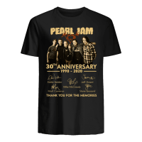 Pearl Jam 30th anniversary tour 1990 2020 thank for the memories music t-shirt for fan man woman